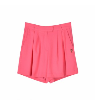 SHORTS-BUBBLE CREPE