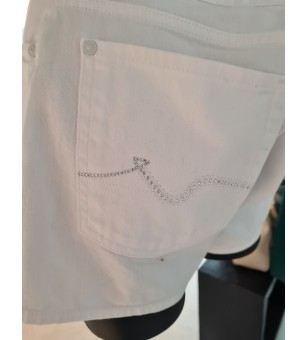 MID RISE SHORTS Pure White