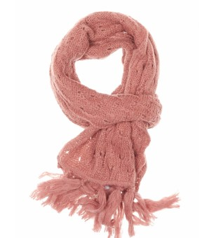 knitted scarf ajour wth fringe